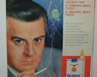 1958 Vintage Viceroy Cigarette ad Atomic