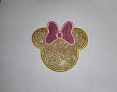 Free Shipping Ready to Ship Girl  glitter iron on applique