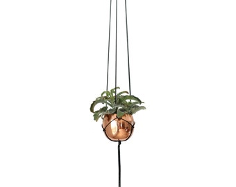 AENA Copper Hanging Planter | Modern Macrame