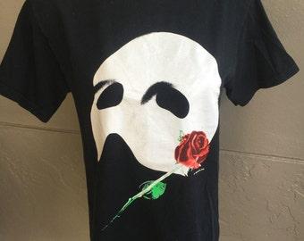 Phantom of the Opera - 1980s black vintage tee shirt size medium