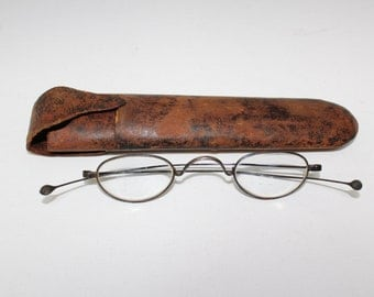 Antique Optical 1850s Eyeglasses Frames With Case // Rare Victorian Glasses // 19th Century // RH2100