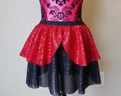 Incredibles Running Skirt, Captain Hook Skirt, Running Skirt, Sparkle Running Skirt, Captain Hook Skirt, 5K Skirt, Race Skirt, Red and Black