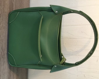 Vintage Samsonite Saturn Carry On bag - purse - green - weekend bag - faux leather