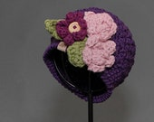 Crochet PATTERN Montgomery Beanie Girls and Ladies Crochet Hat Pattern Includes Sizes Newborn to Ladies