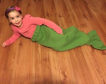 Mermaid Tail Blanket, Child Mermaid Blanket, Toddler Mermaid Blanket, Chunky Mermaid Blanket, Green Mermaid Tail Blanket, Blue Blanket