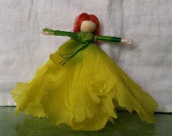 Tulip Fairy - Waldorf Flower Fairy Doll -Yellow