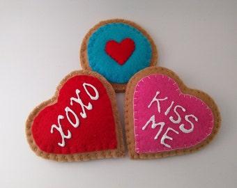 Valentine Felt Pretend Play Cookies