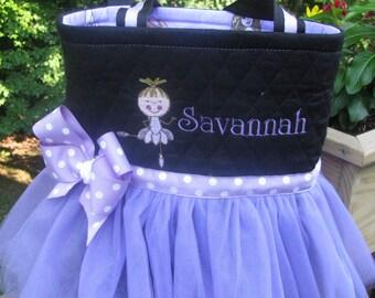 Personalized Purple Ballerina Tutu Bag