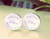 Father of the Bride, Wedding cufflinks, Bridal Party Gift