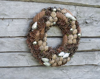 Pinecone Wreath -  Rustic Pinecone Wreath - Christmas Wreath - Winter Wreath