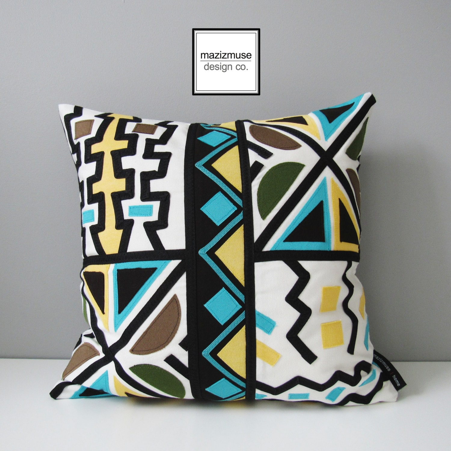 Modern Tribal Pillows : SALE Tribal Outdoor Pillow Cover Modern Boho Chic Mudcloth
