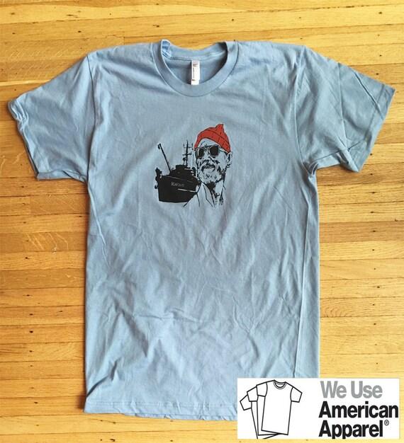 Life Aquatic Steve Zissou Bill Murray American Apparel Shirt