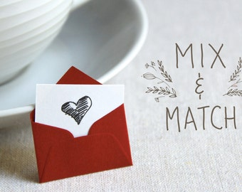 Pack of 24 - Mix and match Tiny Love Notes