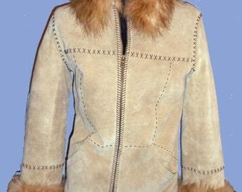 Women's Vintage Rustic style Suede Jacket