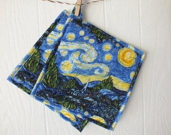 Starry Night Hot Pads Set