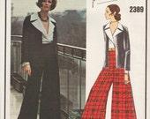 Vogue 2389 / Paris Original / Vintage Designer Sewing Pattern By Yves Saint Laurent  / Evening Pants Jacket Blouse Suit / Size 16 Bust 38