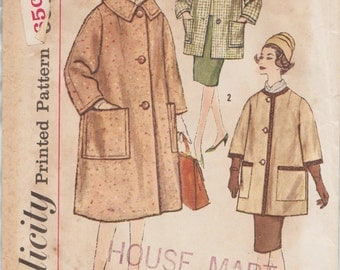 Simplicity 3630 / Vintage Sewing Pattern / Coat Jacket / Size 16 Bust 36