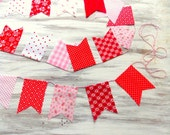 Vintage Valentine's Fabric Bunting / Home Decor / Party Decor