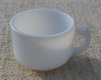 Child's Tea Cup for Toy Tea Set, Vintage White Milk Glass, Older Vintage