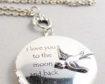 Sparrow Love,Sparrow Necklace,Sparrow,Bird,Bird Necklace,Antique Locket,Nature,Woodland,Love You,Bird Locket,Bird,Robin valleygirldesigns