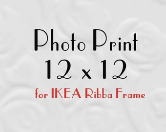 12x12 Prints for IKEA Ribba, 12x12 Prints, 12x12 Photos to fit Ribba Frame