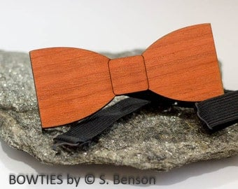 Wood Bow Tie wood - cherry wood