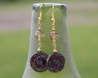 Rustic Shell Earrings