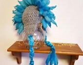 Ready To Ship, Crochet Newborn Baby Boy Rock Star Mohawk EarFlap Hat, Beanie, Handmade, Photo Prop, Shower Gift, Dino, Punk Rocker