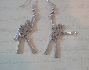 Dangly jangly skeleton earrings