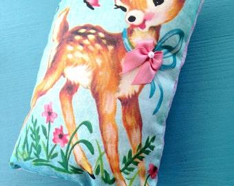 Lavender Vintage Deer Sachet Pillow