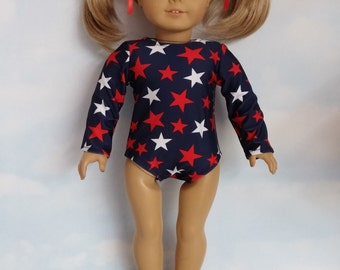 S A L E - 18 inch doll clothes - #112 Star Gymnastic Leotard made to fit the American Girl Doll - FREE SHIPPING