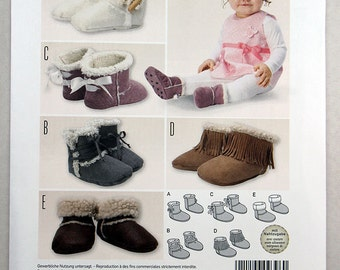 Burda 9396, Kids/Baby Booties Pattern, Sewing Pattern, Super Easy Sewing Pattern, New, Uncut