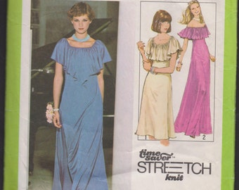 Simplicity 8419 Misses' Pullover Dress A Time Saver™ Stretch-Knit Pattern