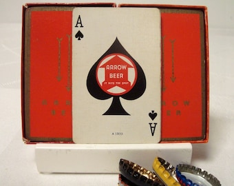 Arrow Beer 2 Card Decks Pinochle Baltimore Vintage Playing Cards