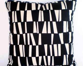 Black Cream Pillow Cover Decorative Throw Pillows Cushion Covers Black Cream Sticks Throw Pillows Bed Couch Sofa Accent Pillow  ALL SIZES
