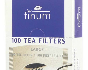 L Tea Filters ~ Biodegradable L Large paper tea brewing filters