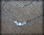 Bat necklace, Sterling silver bat jewelry