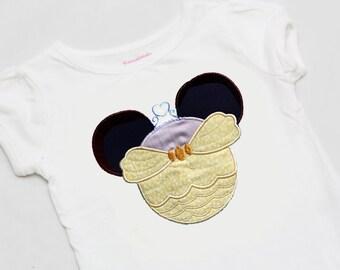 Yellow Dress Princess Mouse Ears Shirt