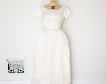 Vintage 1960s Dress - 60s Wedding Dress - The Ina