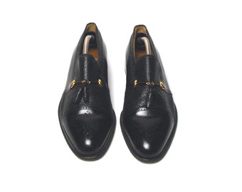 Moreschi Oxford Loafers with Capped Toe, Excellent Condition, Men's Size 9 1/2, Made in Italy