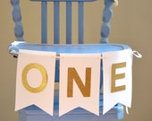 Customizable ONE Highchair Banner and Photo Prop, choose from a rainbow of colors!