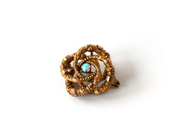 Antique Victorian Love Knot Brooch with Opal c.1880s