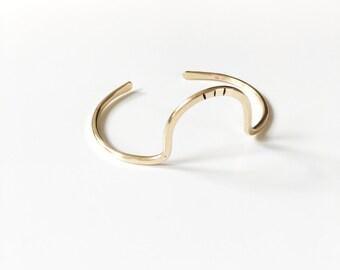 SOLAR APOGEE Cuff | Arc Bracelet in Brass | Minimalist Jewelry