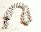Monet Vintage Necklace Silver Filigree Beaded Designer Vintage Jewelry