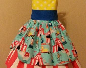 Ready To Ship Size 4/5- Girls Big Top Circus Dress by OSoDarling!