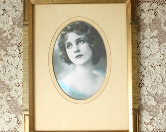 Vintage Art Deco Picture Frame 1930's Lovely Lady