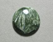 green SERAPHINITE cabochon round 22mm disc designer cab