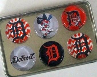 Detroit Tigers Fridge Magnets, Detroit Tigers, Detroit, Michigan, Tigers Baseball, Detroit Tigers Baseball Refrigerator Magnets Set of 6