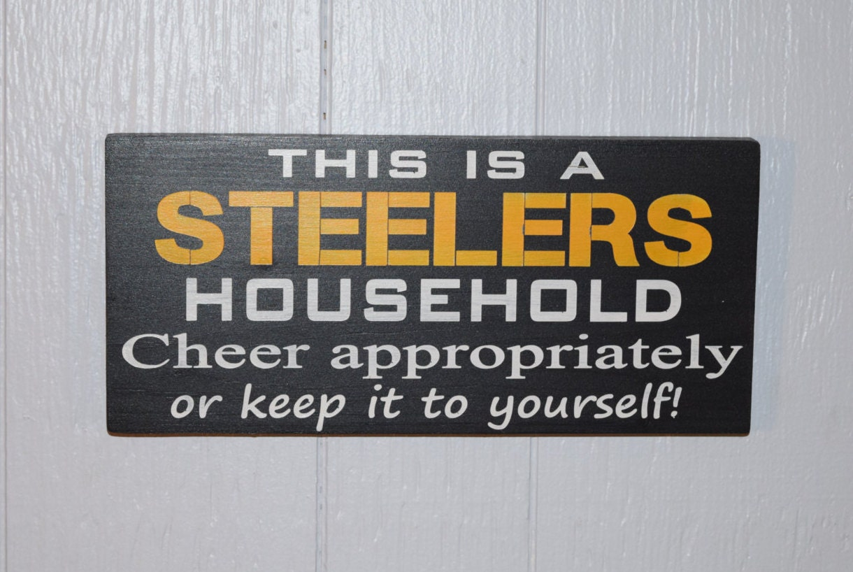 Steelers Bedroom Steelers Decor Etsy