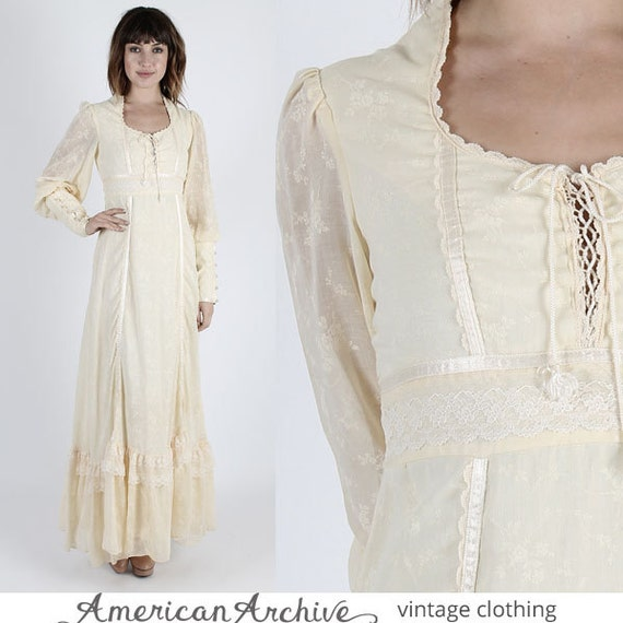 Gunne Sax Dress Jessica Mcclintock Dress By Americanarchive